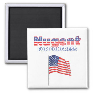 Nugent for Congress Patriotic American Flag Design Magnet