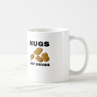 nugs not drugs classic white coffee mug