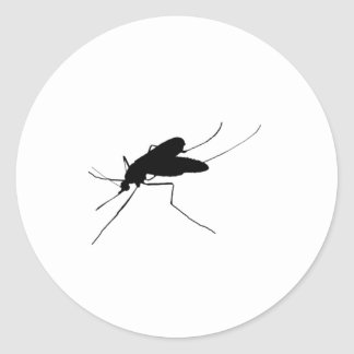 Nuisance Mosquito insect/bug pest Silhouette Round Stickers