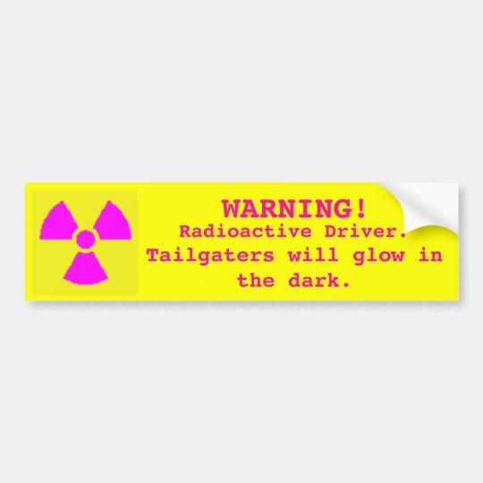 Nuke Driver Bumper Sticker