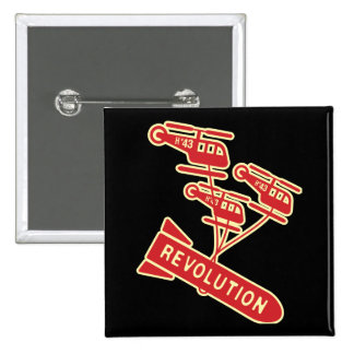 Nuke Revolution 15 Cm Square Badge