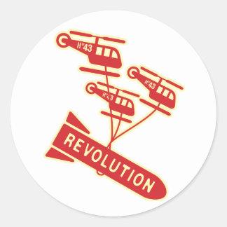 Nuke Revolution Classic Round Sticker