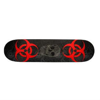 Nuke skull skateboard