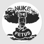 Nuke The Foetus Round Stickers