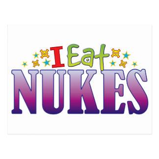 Nukes I Eat Postcard