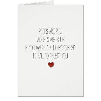 Null-hypothesis nerdy math joke Valentines card