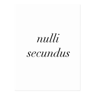 nulli secundus second to none postcard