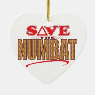 Numbat Save Ceramic Heart Decoration