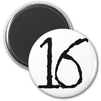 Number16 Fridge Magnet