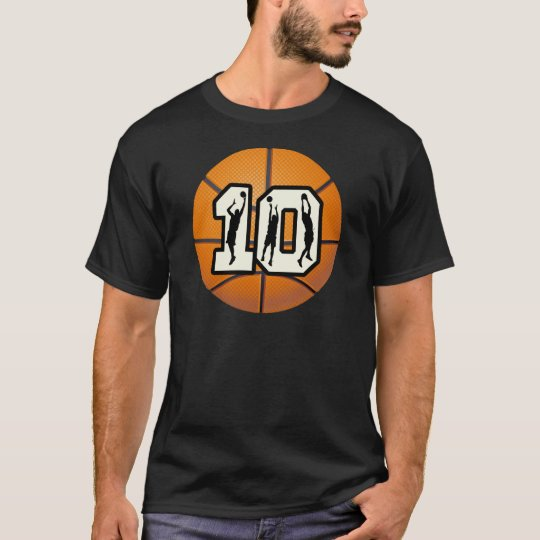 Number 10 Basketball and Players T-Shirt