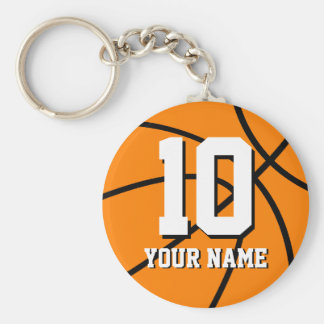 Number 10 basketball keychains | Personalizable