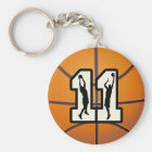 Number 11 Basketball and Players Key Ring