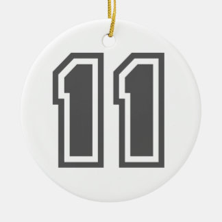 Number 11 christmas ornament