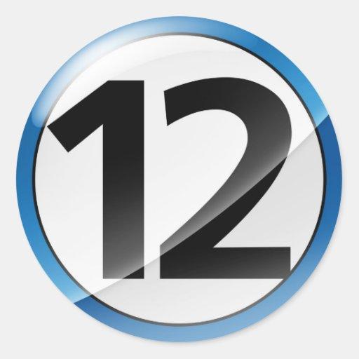 Blue Number 12