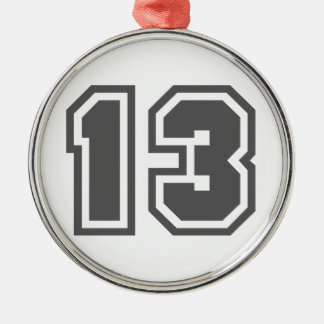 Number 13 christmas ornament