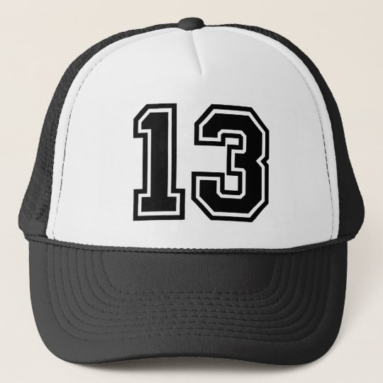 Number 13 Classic Trucker Hat