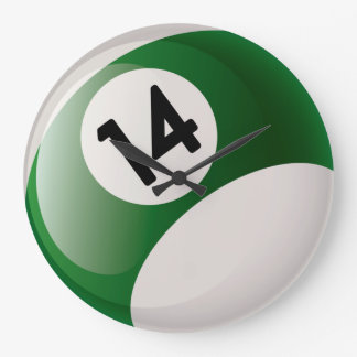 Number 14 Billiards Ball Clock