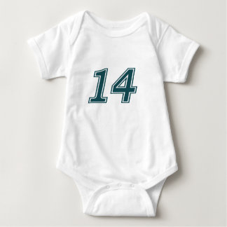 Number 14 Rookie Baby Bodysuit
