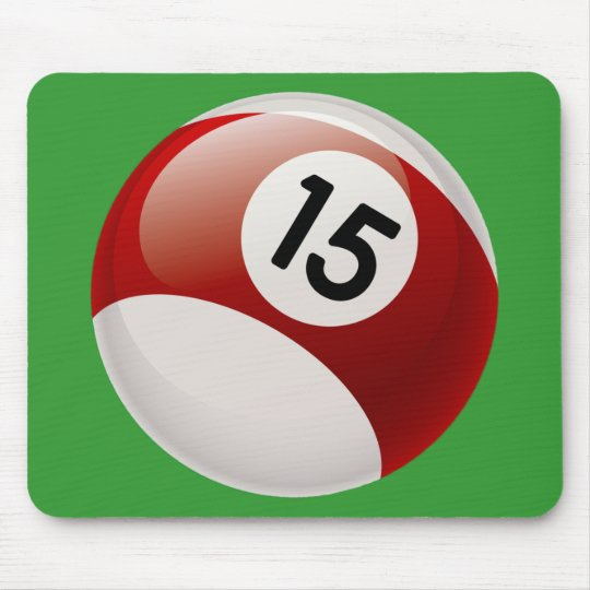 NUMBER 15 BILLARDS BALL MOUSE PAD