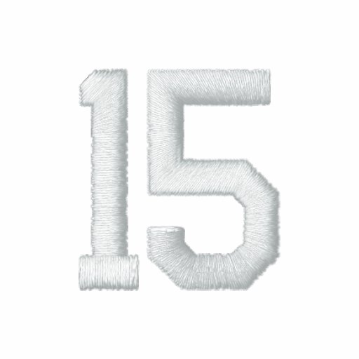 Number 15 embroidered shirt