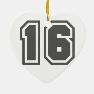 Number 16 christmas ornament