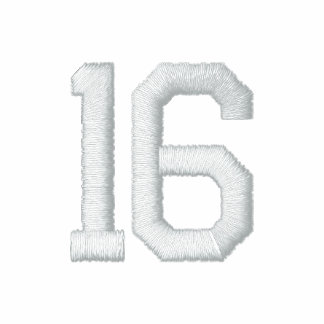 Number 16 embroidered shirt