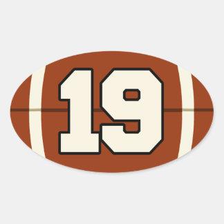 Number 19 Football Sticker