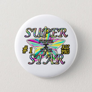 Number 1 All Pro Super Star 6 Cm Round Badge