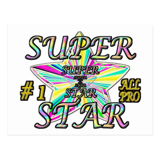 Number 1 All Pro Super Star Postcard