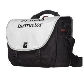 Number 1 Ballet Instructor Laptop Messenger Bag