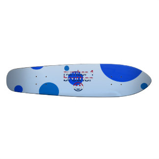 Number 1 Brother in American Flag Colors Skate Board Decks