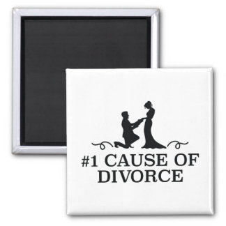 Number 1 Cause Of Divorce Square Magnet