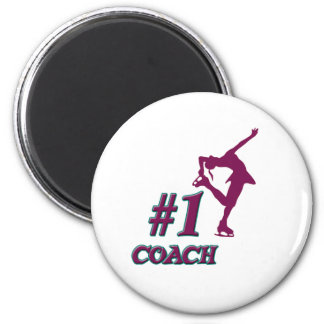 Number #1 Coach 6 Cm Round Magnet