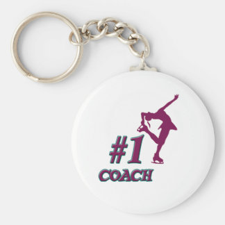 Number #1 Coach Basic Round Button Key Ring