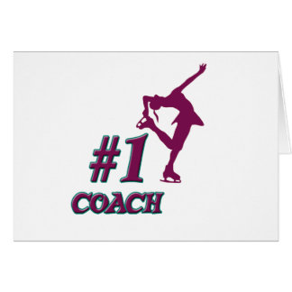 Number #1 Coach Greeting Cards