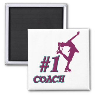 Number #1 Coach Square Magnet