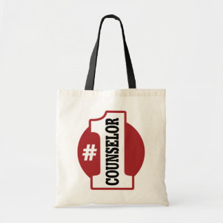 Number 1 Counselor Budget Tote Bag