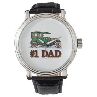 Number 1 Dad - Antique Car Wrist Watches