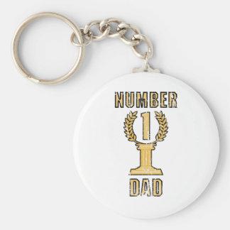 Number 1 Dad Key Ring