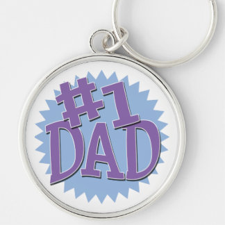 Number 1 Dad Keychain