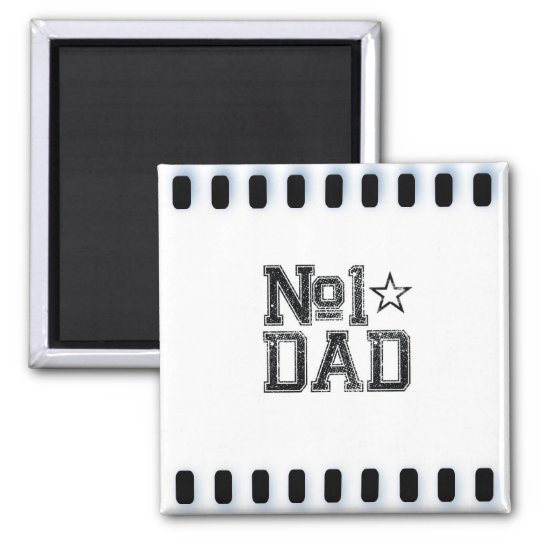 Number 1 Dad Square Magnet