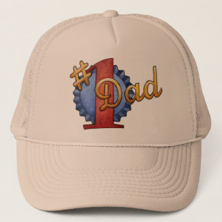number 1 dad trucker hat