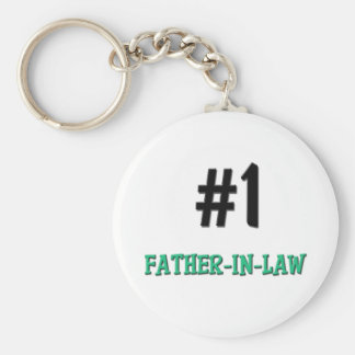 Number 1 Father-in-Law Basic Round Button Key Ring
