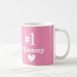 Number 1 Glammy Gift for Grandmother Basic White Mug