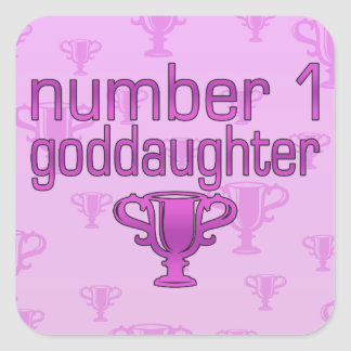Number 1 Goddaughter Square Sticker