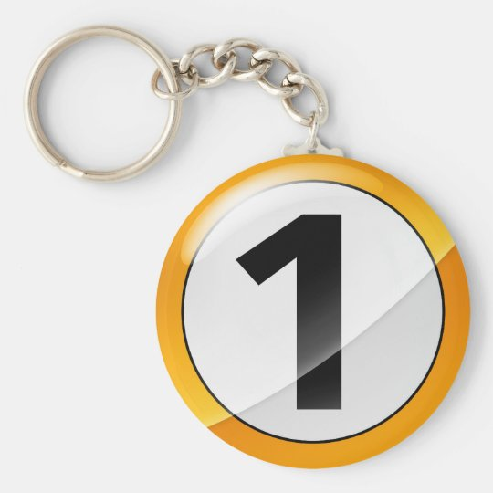 Number 1 gold Key Chain