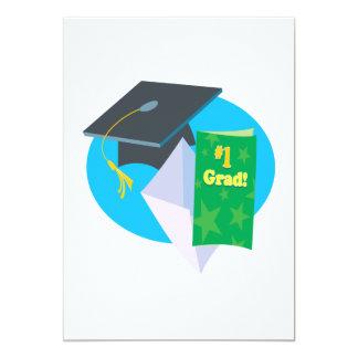 Number 1 Grad 13 Cm X 18 Cm Invitation Card