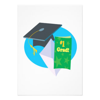 Number 1 Grad Personalized Invite
