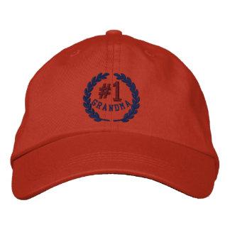 Number 1 Grandma All Star Laurels Embroidery Baseball Cap