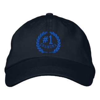 Number 1 Grandma All Star Laurels Embroidery Embroidered Baseball Cap